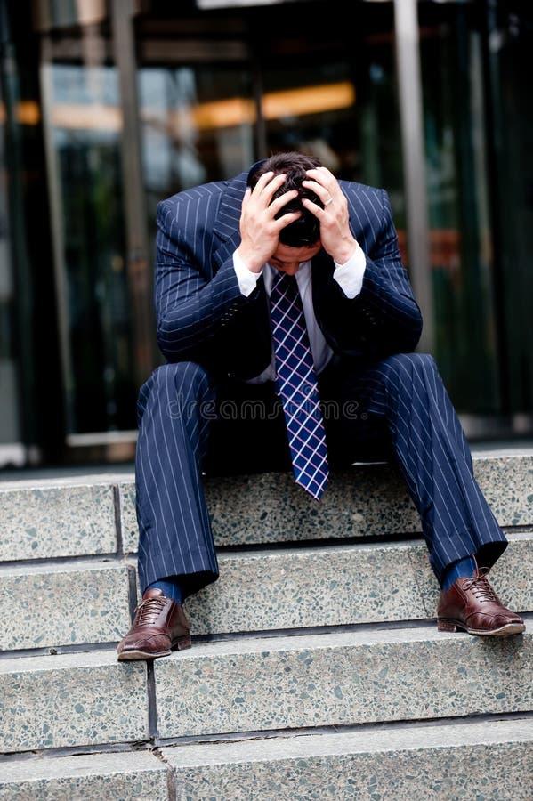 Τονισμένος επιχειρηματίας στοκ εικόνα με δικαίωμα ελεύθερης χρήσης