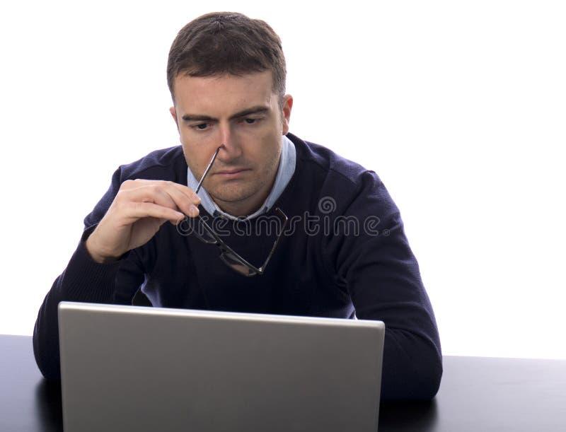 Τονισμένος εργαζόμενος στοκ εικόνα
