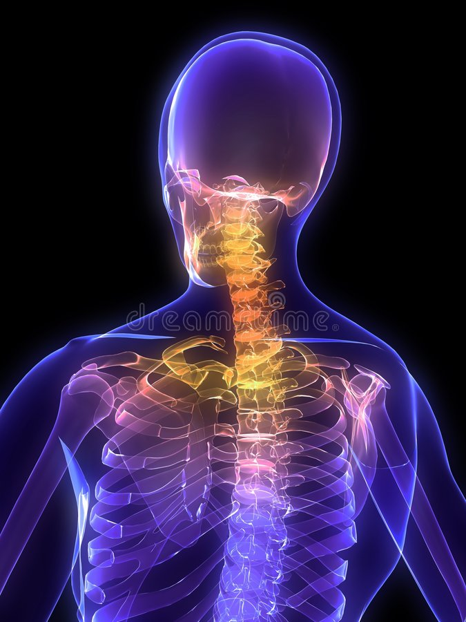 τονισμένος λαιμός διανυσματική απεικόνιση