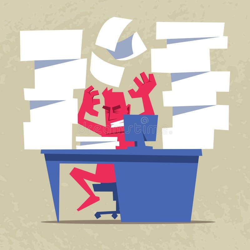 Τονισμένο να φωνάξει επιχειρηματιών απεικόνιση αποθεμάτων