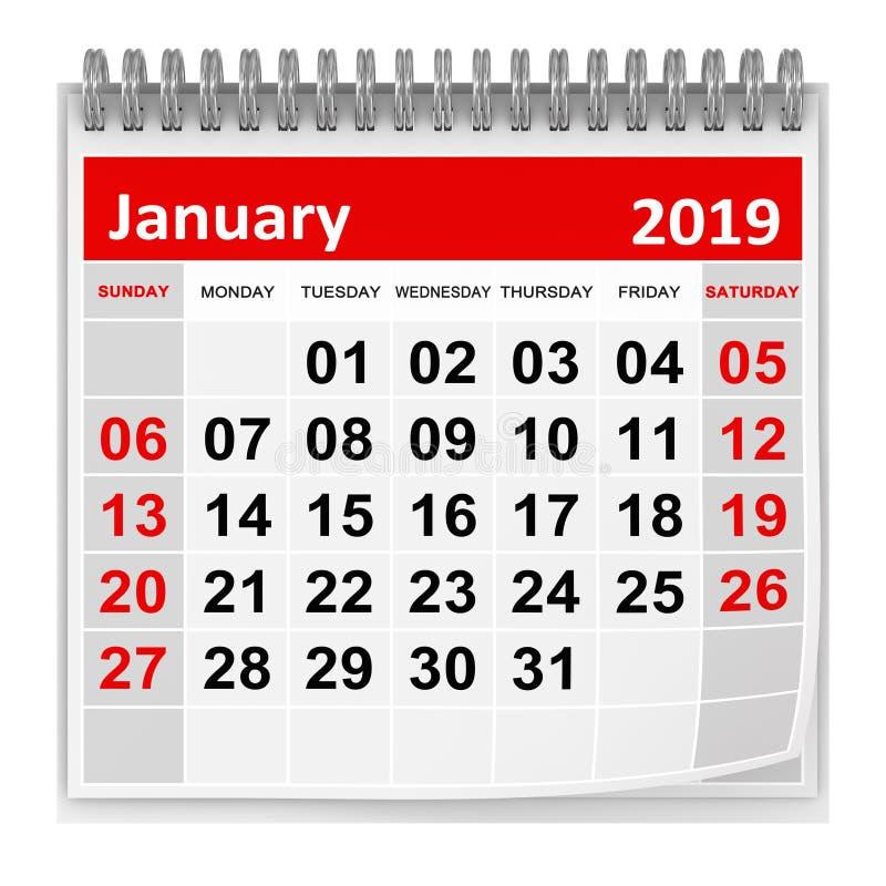 Τον Ιανουάριο του 2019 ελεύθερη απεικόνιση δικαιώματος