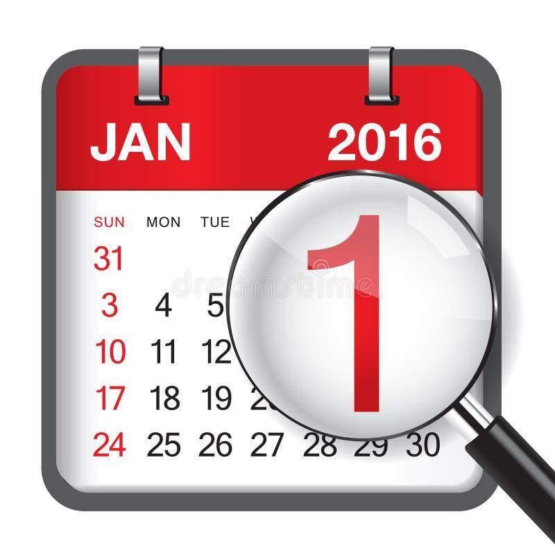 Τον Ιανουάριο του 2016 ελεύθερη απεικόνιση δικαιώματος