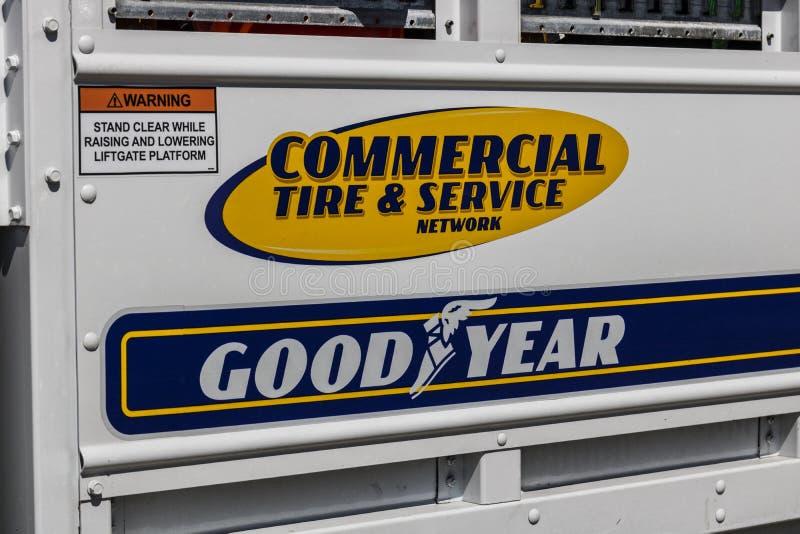 Τον Ιούνιο του 2017 της Ινδιανάπολης - Circa: Εμπορικά ρόδα Goodyear και όχημα Ι υπηρεσιών στοκ εικόνα με δικαίωμα ελεύθερης χρήσης