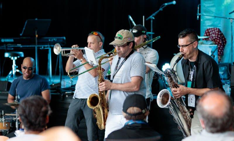 Τον Ιούλιο του 2017 φεστιβάλ του Μόντρεαλ Jazz στοκ φωτογραφίες