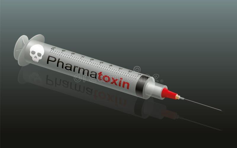 Τοξίνη Pharma εγχύσεων διανυσματική απεικόνιση