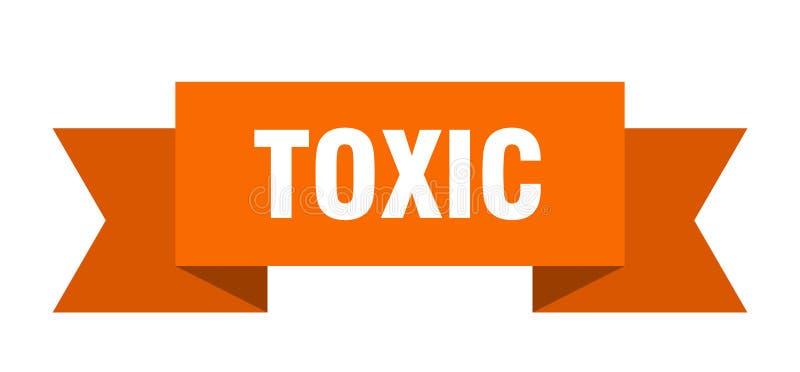 τοξική κορδέλλα διανυσματική απεικόνιση