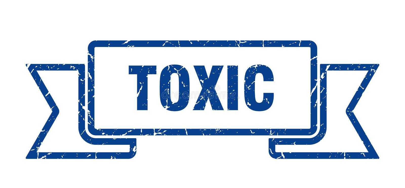 τοξική κορδέλλα απεικόνιση αποθεμάτων