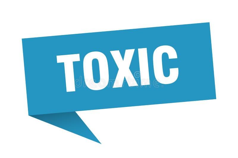 τοξική λεκτική φυσαλίδα απεικόνιση αποθεμάτων