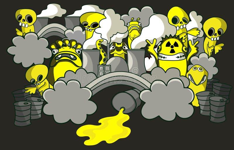 τοξική ουσία τεράτων διανυσματική απεικόνιση