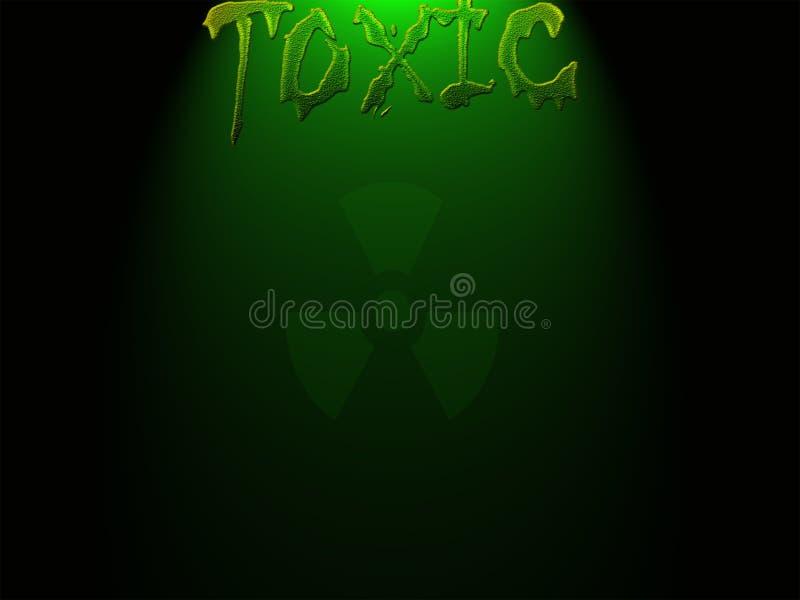 τοξικός Επιστολή και λογότυπο Πράσινο χρώμα στοκ εικόνα