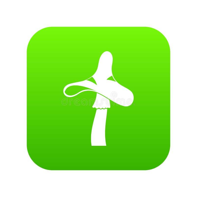 Τοξικός ψηφιακός πράσινος εικονιδίων μανιταριών διανυσματική απεικόνιση