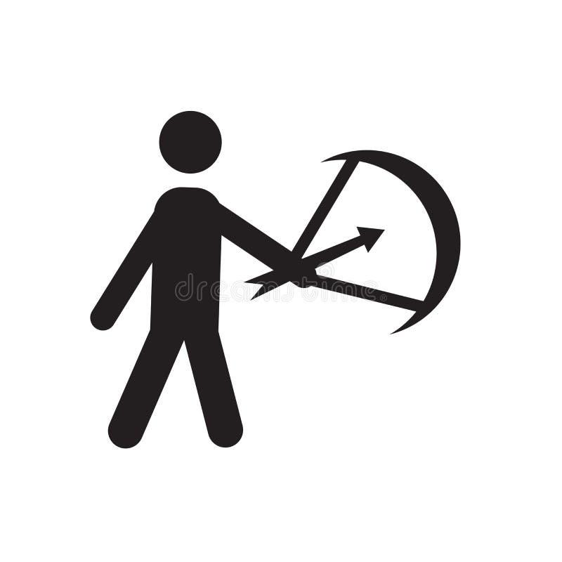 Τοξοτών σημάδι και σύμβολο εικονιδίων διανυσματικό που απομονώνονται στο άσπρο υπόβαθρο, έννοια λογότυπων τοξοτών διανυσματική απεικόνιση
