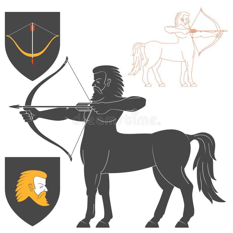 Τοξότης Centaur πυροβολισμού διανυσματική απεικόνιση