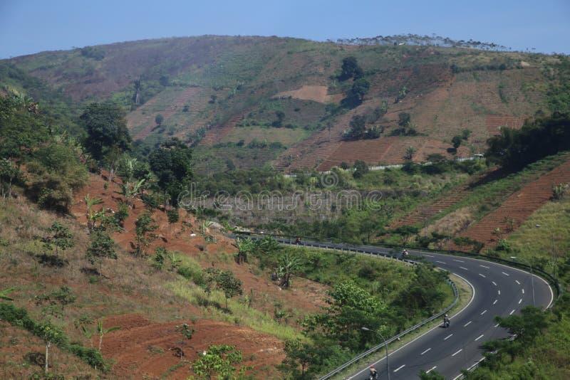 Τοπία μεταξύ Bandung και Kroya στοκ φωτογραφίες
