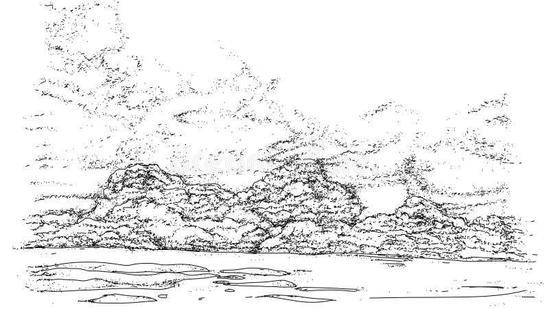 Τοπία με τα σύννεφα και τα σύννεφα απεικόνιση αποθεμάτων