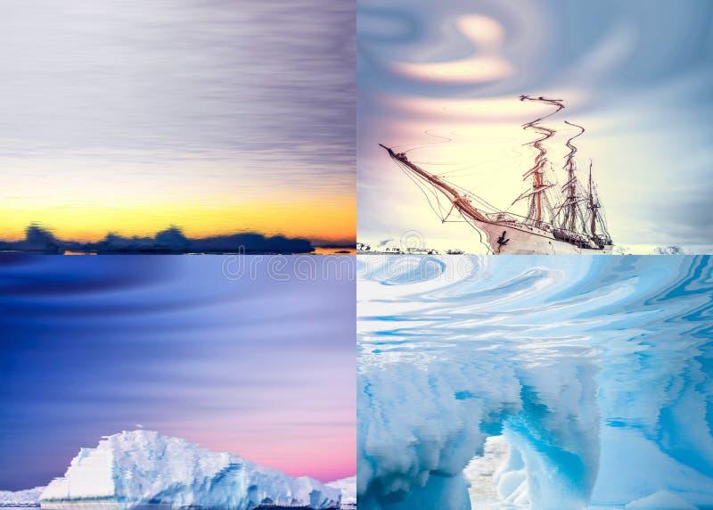 Download Τοπία που απεικονίζονται πολικά στο νερό Στοκ Εικόνες - εικόνα από ζωηρόχρωμος, ωκεανός: 62706616