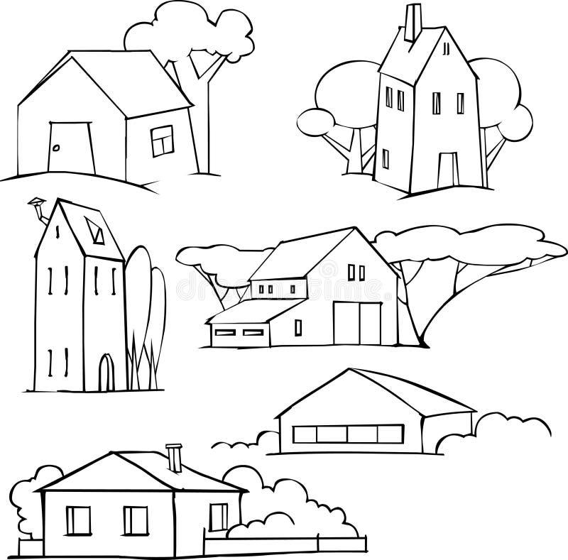 τοπία που τίθενται διανυσματική απεικόνιση