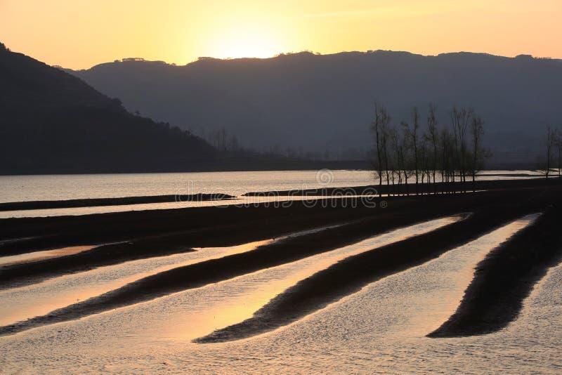 τοπία sunsets στοκ φωτογραφία με δικαίωμα ελεύθερης χρήσης
