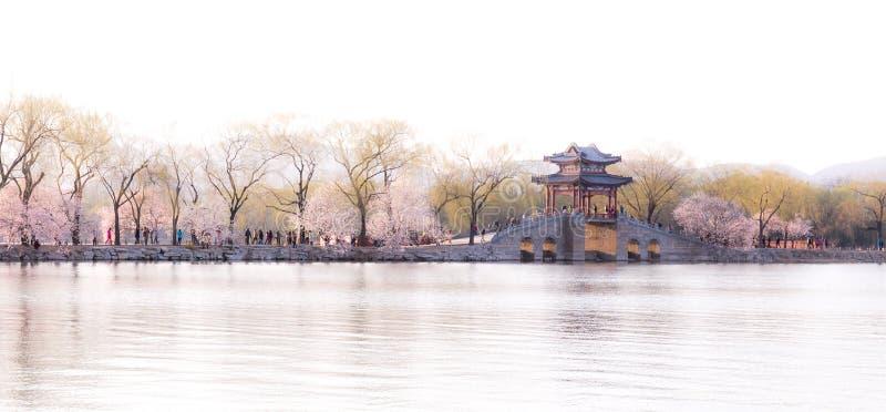 Τοπίο άνοιξης θερινών παλατιών του Πεκίνου στοκ φωτογραφίες με δικαίωμα ελεύθερης χρήσης