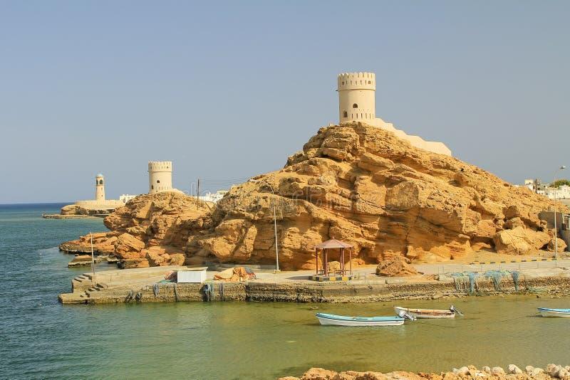 Τοπίο ακτών του Ομάν στοκ φωτογραφίες με δικαίωμα ελεύθερης χρήσης