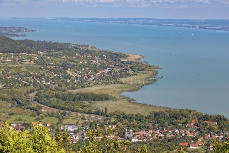 Τοπίο από μια λίμνη Balaton στην Ουγγαρία στοκ εικόνα