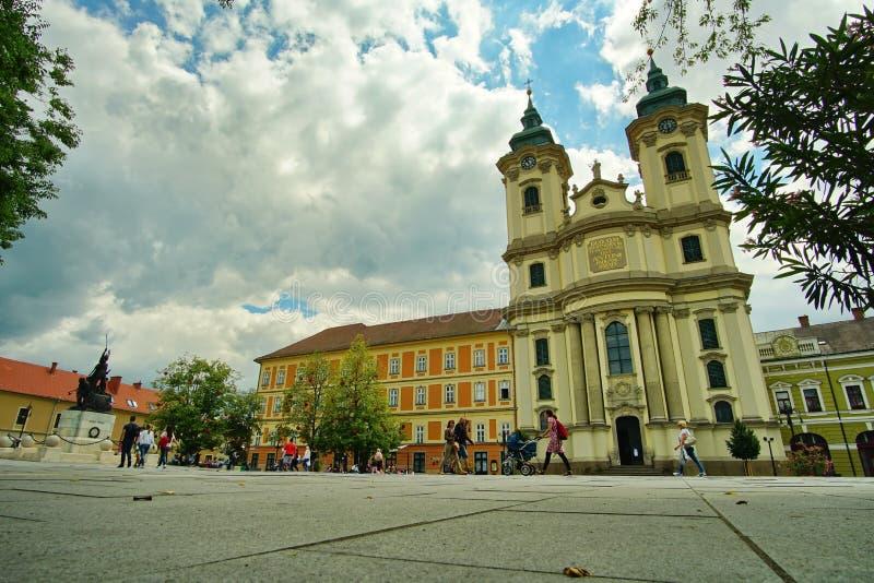 Τοπίο από το μεσαιωνικό κέντρο Eger, Ουγγαρία 2 στοκ εικόνες με δικαίωμα ελεύθερης χρήσης