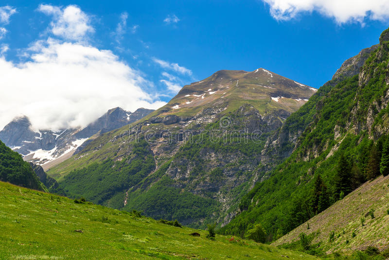 Τοπίο βουνών - βουνά Sibillini στοκ εικόνες με δικαίωμα ελεύθερης χρήσης