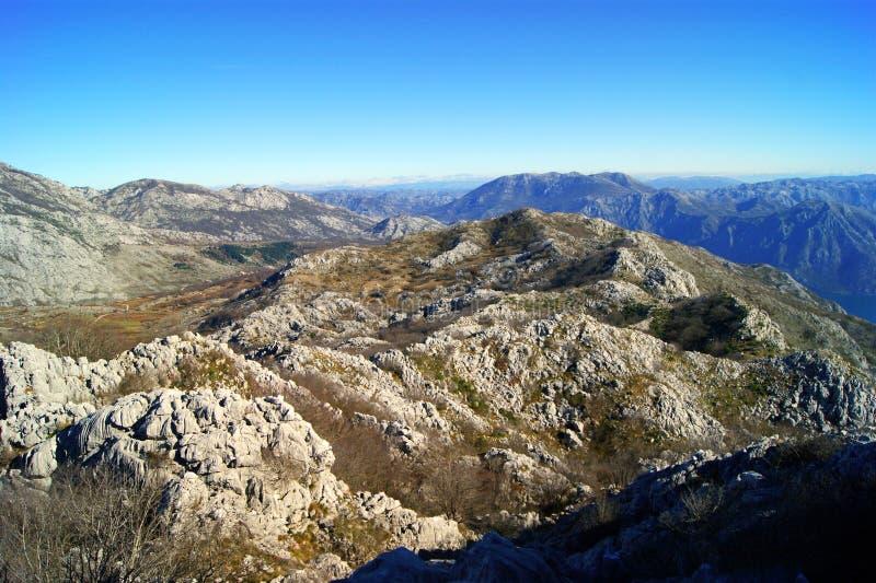 Τοπίο βουνών ερήμων στοκ φωτογραφίες