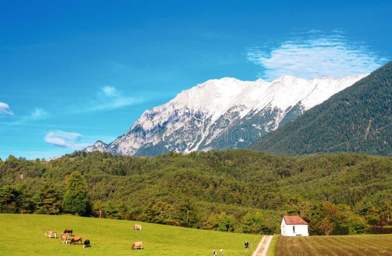 Τοπίο βουνών στις βαυαρικές Άλπεις, Βαυαρία, Γερμανία στοκ εικόνες