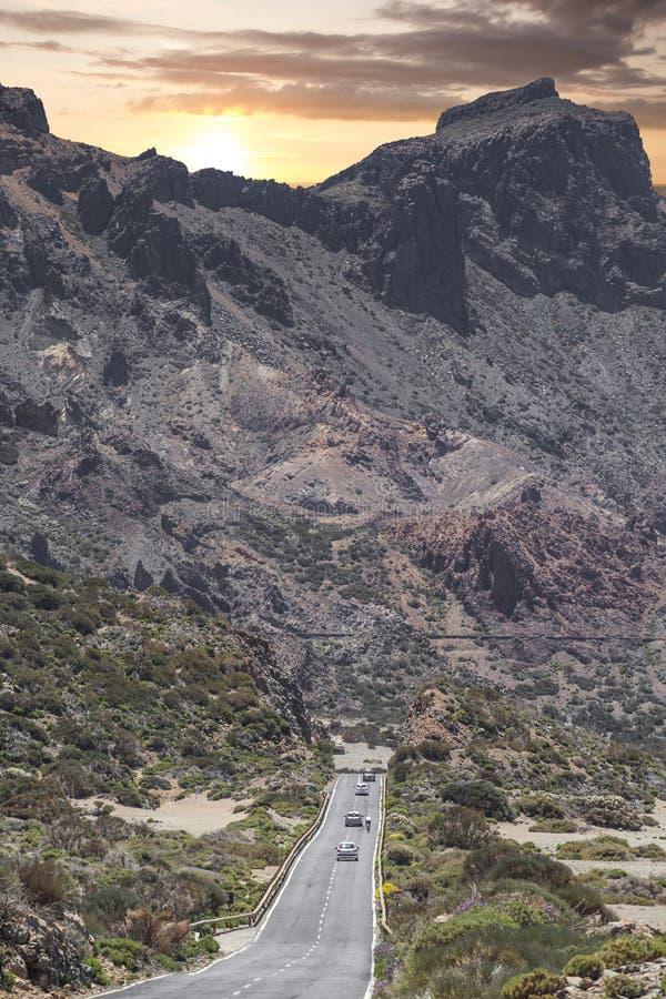 Τοπίο βουνών στο τροπικό νησί Tenerife, καναρίνι στην Ισπανία στοκ φωτογραφίες με δικαίωμα ελεύθερης χρήσης