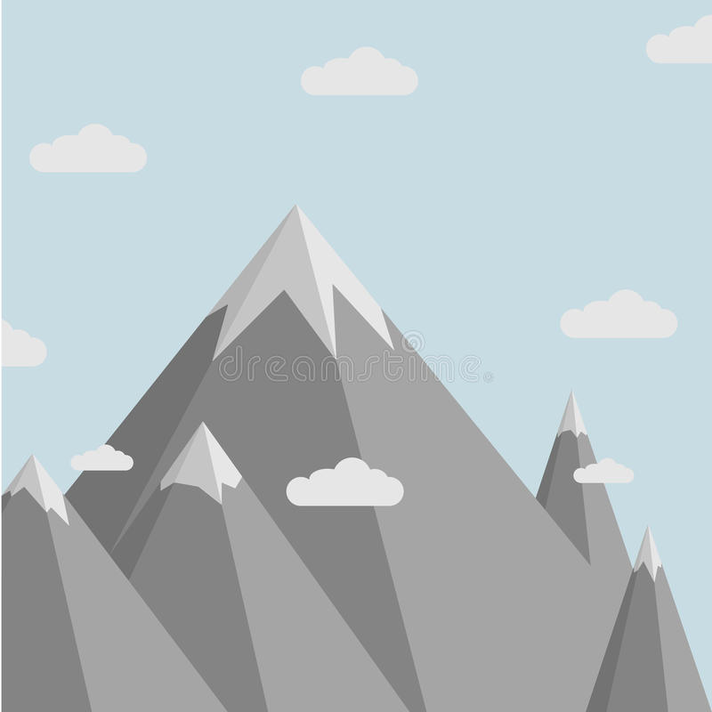 Τοπίο βουνών Minimalistic απεικόνιση αποθεμάτων