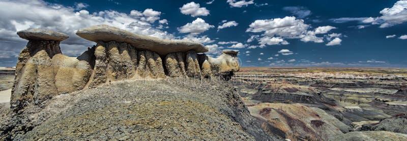 Τοπίο ερήμων βράχου πανοράματος στο βόρειο Νέο Μεξικό στοκ εικόνες