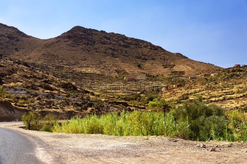Τοπίο ερήμων στα βουνά Antiatlas στοκ φωτογραφία με δικαίωμα ελεύθερης χρήσης