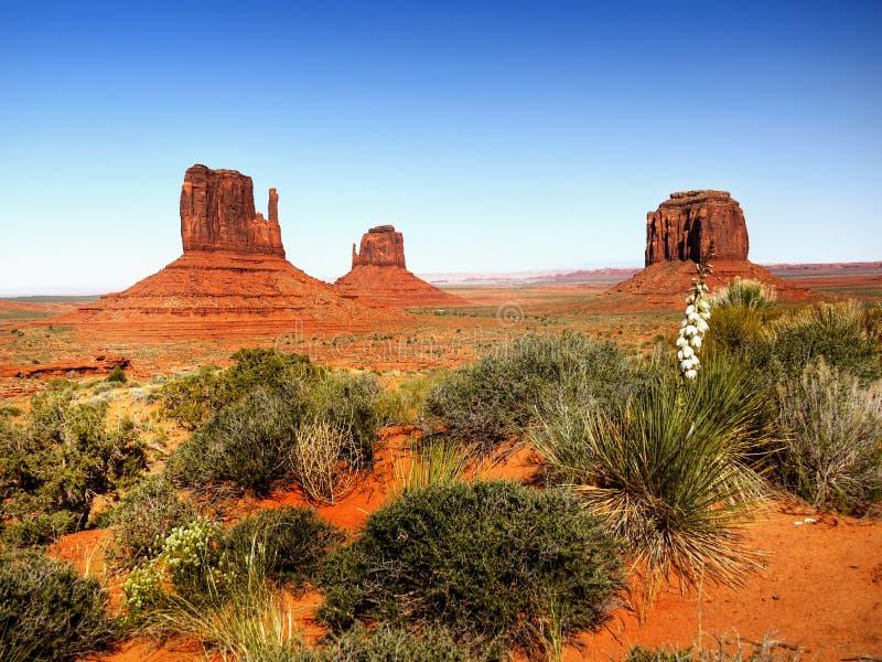 Τοπίο ερήμων στην Αριζόνα, κοιλάδα μνημείων στοκ φωτογραφίες