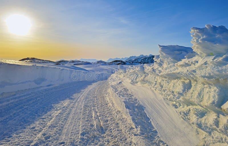 Τοπίο ηλιοβασιλέματος στη Γροιλανδία στοκ εικόνα με δικαίωμα ελεύθερης χρήσης