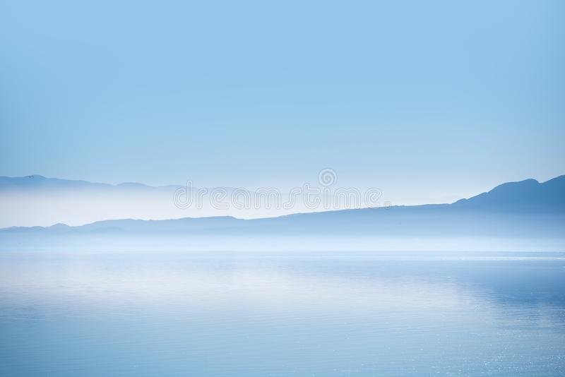 Τοπίο θάλασσας Salton στοκ φωτογραφία