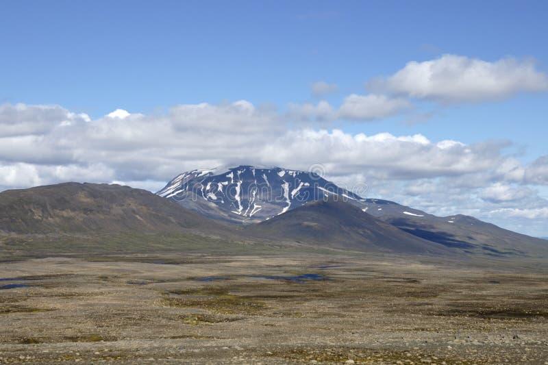 Τοπίο θερινών ορεινών περιοχών, Ισλανδία. στοκ εικόνες με δικαίωμα ελεύθερης χρήσης