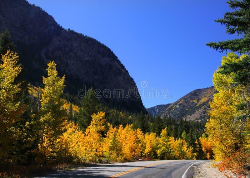 Τοπίο και δρόμος φθινοπώρου στοκ εικόνες