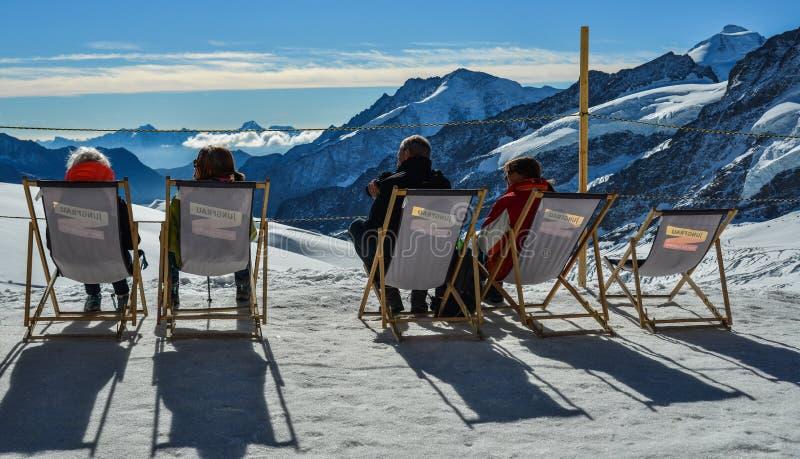 Τοπίο και φύση του υποστηρίγματος Jungfrau στοκ φωτογραφία