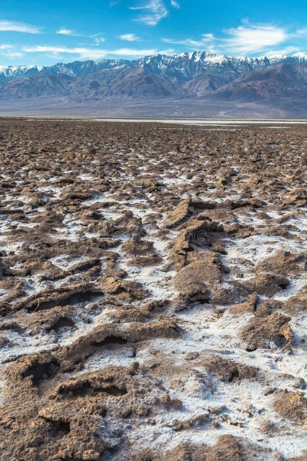 Τοπίο κοιλάδων θανάτου στοκ φωτογραφία με δικαίωμα ελεύθερης χρήσης