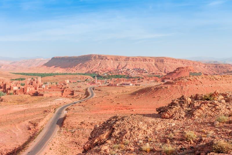 Τοπίο κοιλάδων Ounila Μαρόκο στοκ φωτογραφίες
