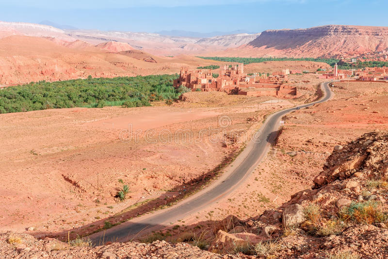 Τοπίο κοιλάδων Ounila Μαρόκο στοκ εικόνα