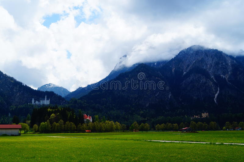 Τοπίο κοντά σε Neuschwanstein Castle στοκ φωτογραφίες με δικαίωμα ελεύθερης χρήσης