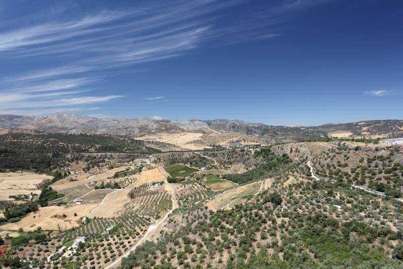 Τοπίο κοντά Ronda, Ισπανία στοκ εικόνες με δικαίωμα ελεύθερης χρήσης