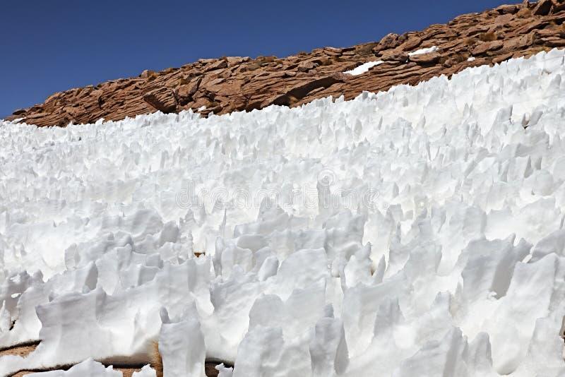 Τοπίο με τις δομές χιονιού στοκ φωτογραφίες