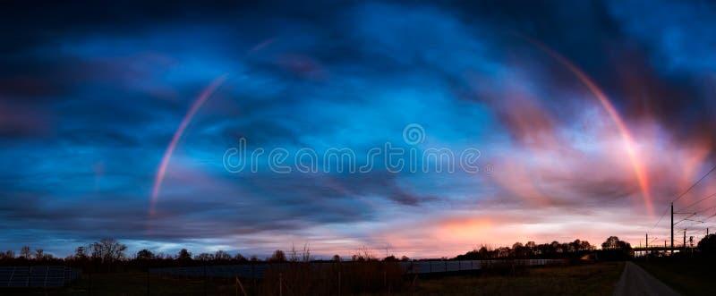 Τοπίο με το ουράνιο τόξο σε Maisach στοκ φωτογραφία με δικαίωμα ελεύθερης χρήσης