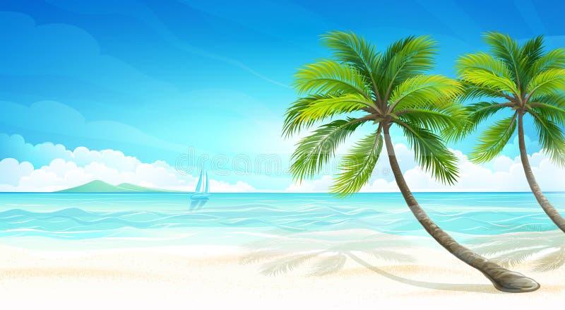 Τροπική παραλία ελεύθερη απεικόνιση δικαιώματος