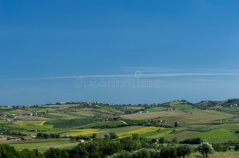 Τοπίο μιας χώρας γεωργίας στοκ φωτογραφία