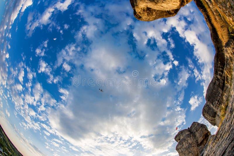 Τοπίο μπλε ουρανού στοκ εικόνες