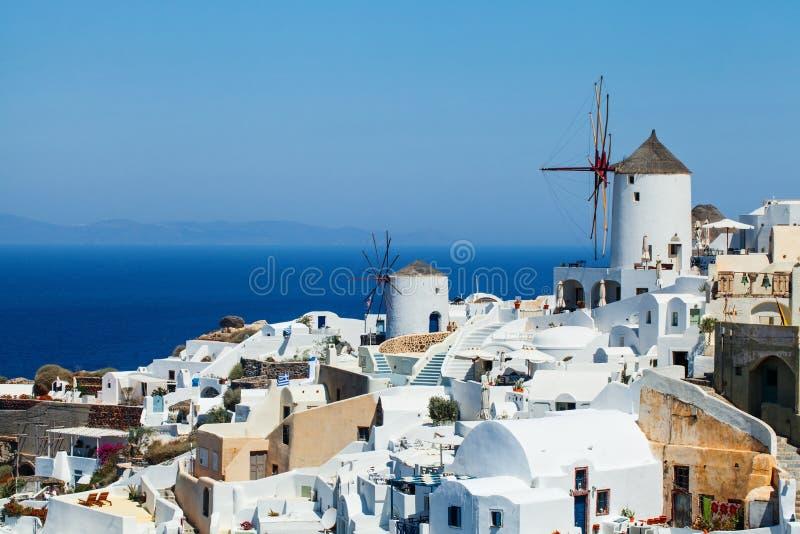 Τοπίο νησιών Santorini, ορόσημο της Ελλάδας στοκ εικόνα